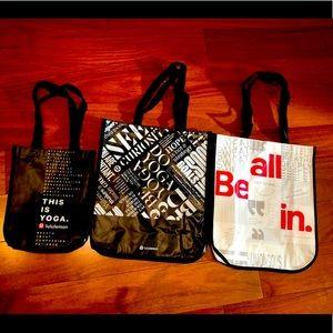 Lululemon reusable bags 3 total !